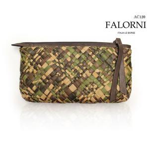 ファロルニ FALORNI 鞄 メンズ レディース バッグ イントレチャート クラッチバッグ セカンドバッグ レザー 本革 ac120 (AC120,CAMO)  【送料無料!】|queen-classico