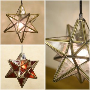 ★StarGlass Pendant Lamp ヨーロッパステンド風 ペンダントランプ スターグラス★BL-P110021