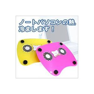 ★ノートPCカラフル冷却台 ピンク★|queen-shop