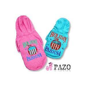 ★PAZO Holiday スパンコール付き フードトレーナー ピンク XS★|queen-shop