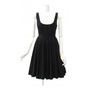 miu miu ( ミュウミュウ ) フレアー ワンピース リトル ブラック ドレス ノースリーブ queenandking