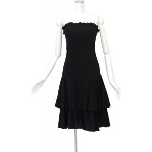 ダイアンフォンフォステンバーグ ワンピース リトルブラックドレス 綿 ひざ丈 Mサイズ 1点物 queenandking