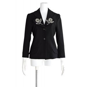 ジャケット レディース アウター 長袖 黒 サイズ S~M|queenandking
