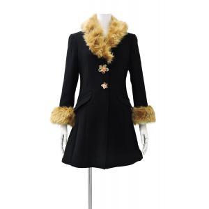 レディース コート 黒 フォーマル ブラック ハーフ 丈 ウール コート レディース 7部丈 膝丈 膝下丈 上品 フォーマル アウター XSサイズ ~ Sサイズ|queenandking