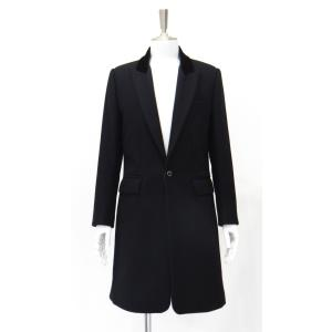 チェスターコート カシミヤ コート メンズ シングル ウール 黒 サイズ M 46|queenandking