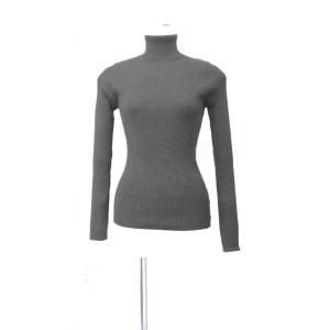 タートルネック レディース セーター ニット リブ 生地 長袖 Sサイズ ~ Mサイズ|queenandking
