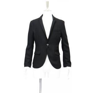ジャケット メンズ スーツ フォーマル ブランド テーラード ジャケット 黒 ブラック シングル ジャケット メンズ カジュアル Sサイズ 44|queenandking