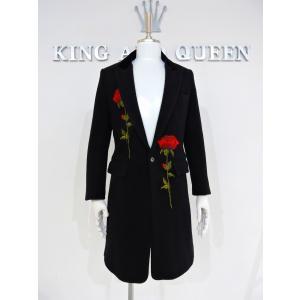 チェスターコート メンズ コート ロング シングル ウール 黒 サイズS 44|queenandking