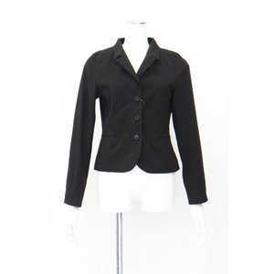 ジャケット レディース 黒 ブラック テーラード シングル Mサイズ|queenandking