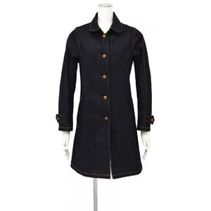 セルビッチ 赤耳 デニム ステンカラーコート レディース コート丸襟 S ~ M サイズ|queenandking