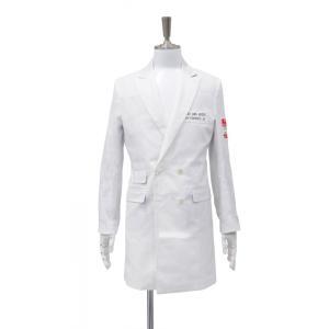 白 ホワイト ダブル ロング ジャケット メンズ Sサイズ 44|queenandking
