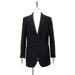 メンズ ジャケット ロング 黒 ロングジャケット シングル リネン メンズジャケット 麻 サイズM 46|queenandking