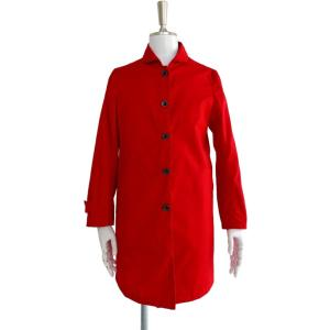 コート メンズ 赤 ステンカラーコート スプリングコート 長袖 アウター S ~ M サイズ|queenandking