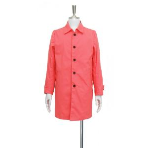 コート メンズ ステンカラーコート スプリングコート フラミンゴカラー 長袖 アウター S ~ M サイズ|queenandking