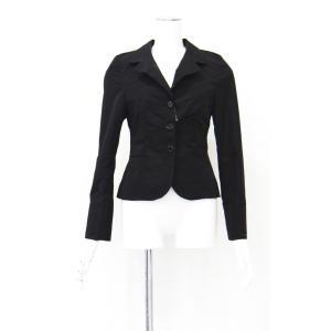 ジャケット 黒 テーラード ブラック シングル レディース 長袖 アウター Mサイズ|queenandking
