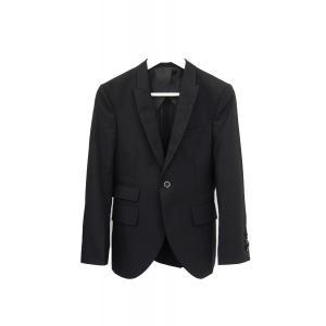 ジャケット メンズ 黒 ブラック シングル 42 XS サイズ センターベント|queenandking