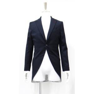 ジャケット メンズ モーニング ピークドラベル ネイビー 紺 Sサイズ サイズ44|queenandking