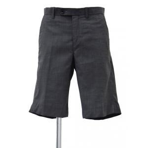 メンズ ショート パンツ グレー ショートパンツ ハーフパンツ 膝上 無地 Sサイズ|queenandking