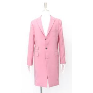 コート チェスターコート メンズ ロング ジャケット シングル ピンク S 44 サイズ|queenandking