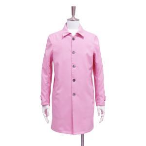 ステンカラーコート メンズ コート ロングコート 長袖 アウター ピンク S ~ M サイズ|queenandking