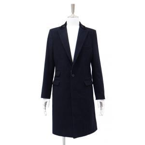 ネイビー メンズ チェスターコート コート 長袖 紺色 メンズコート チェスター コート Sサイズ 44|queenandking