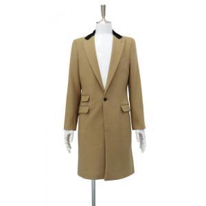 キャラメル色 ラクダ色 薄茶色 メンズ チェスターコート コート 長袖 茶色 メンズコート チェスター コート Sサイズ 44|queenandking