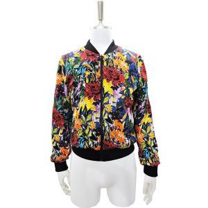 ボンバージャケット リバーシブル ユニセックス スカジャン メンズ S レディース M ~ L 花柄 赤 青 黄色|queenandking