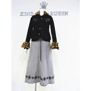 レディース グレー 灰色 カシミヤウール ロングスカート Lサイズ 〜 LLサイズ オーダーメイド|queenandking