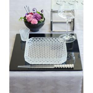 ガラス食器 和食器 洋食器 おしゃれ 籠目 四角 皿 中皿 ガラス皿 おもてなし 日本製    食器...