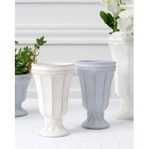 陶器 おしゃれ 花瓶 花器 花材 資材 インテリア雑貨 ホワイト ライトグレー 白 灰 アンティーク...