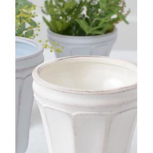 CERAMIC-VASE Country Gris et blanc フラワーベース Lサイズ 2色 240-163【陶器 おしゃれ 花瓶 花器 花材 資材 インテリア雑貨】|queenann-y|02