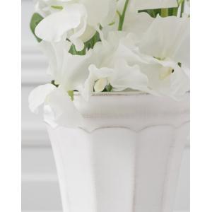 CERAMIC-VASE Country Gris et blanc フラワーベース Lサイズ 2色 240-163【陶器 おしゃれ 花瓶 花器 花材 資材 インテリア雑貨】|queenann-y|03