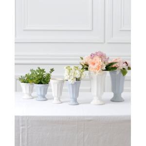 CERAMIC-VASE Country Gris et blanc フラワーベース Lサイズ 2色 240-163【陶器 おしゃれ 花瓶 花器 花材 資材 インテリア雑貨】|queenann-y|07