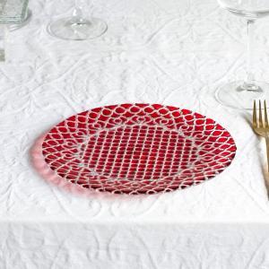 ハナ Hana トルコ製 ガラス食器 おしゃれ おもてなし パーティー お皿 デザート皿 ケーキ皿 ...