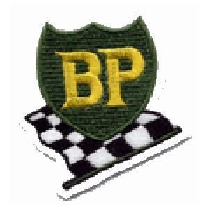 BP CHECK ビーピー チェッカー イギリス 車(タイヤ・オイル・その他) のワッペン アイロン queens-gate