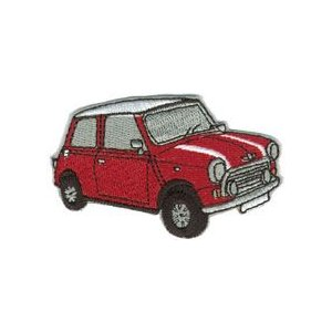 MINI CAR  ミニ 赤色 イギリス 車(タイヤ・オイル・その他) のワッペン アイロン|queens-gate