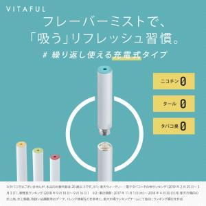 VITAFUL ビタフル 充電式 電子タバコ スターターキット/交換カートリッジ 全4種 ニコチン0 タール0 【ネコポス対象商品】|queensshop