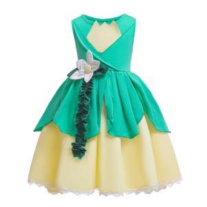 AD038  ディズニープリンセス  キッズ アンナプリンセス なりきりワンピース  プリンセスドレス 子どもドレス プリンセス キッズドレス 女の子|queenstylehayato