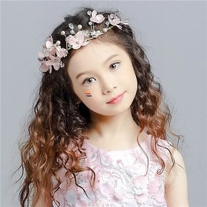 GZQ10【ヘッドドレス】花冠 キッズ フラワーティアラ 髪飾り フラワー 花かんむり ウエディング ヘッドドレス 可愛い髪飾り 結婚式 フラワーティアラ|queenstylehayato