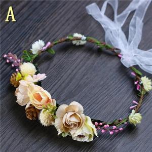 【ヘッドドレス】花冠 キッズ フラワーティアラ 髪飾り フラワー 花かんむり ウエディング ヘッドドレス 可愛い髪飾り 結婚式 フラワーティアラGZQ89|queenstylehayato