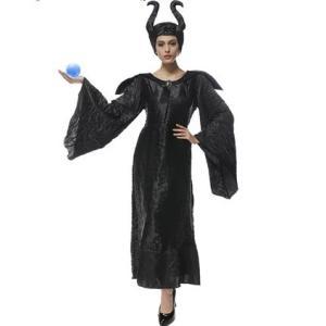 ハロウィン 大人用ドレス マレフィセント 眠れる森の美女 魔女| コスチューム 衣装 コスプレ プリンセスドレス 大人用 余興 レディースワンピース 女の子 R31|queenstylehayato