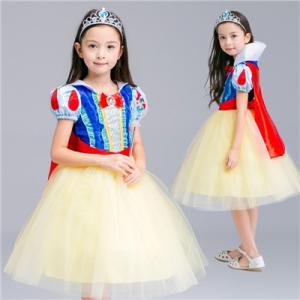 9cd51164ec0f3 W20 ディズニープリンセス 子供用ドレス キッズ 白雪姫 ワンピース なりきりワンピース プリンセスドレス 子どもドレス プリンセス キッズドレス  女の子