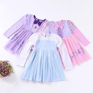 W55  ディズニープリンセス 子供用ドレス キッズ ソフィア シンデレラ ラプンツェル ワンピース なりきりワンピース  プリンセスドレス 子どもドレス|queenstylehayato
