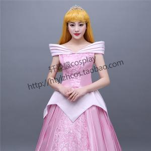 fac2a26950ca8 WL455ハロウィン 眠れる森の美女 オーロラ姫 コスチューム 大人 女性用 ディズニー プリンセス コスプレ 衣装 レディース ドレス ピンク