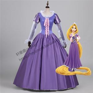 WL461 ディズニー映画 大人用ドレス Rapunzel衣装 ラプンツェル コスチューム ハロウィン 大人 女性用 レディース キャラクター 仮装