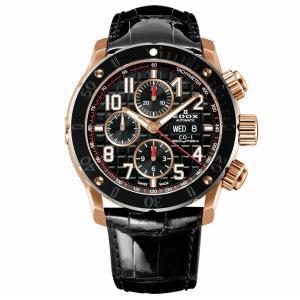 正規品 EDOX エドックス クロノオフショア1 クロノグラフ オートマティック ダイバーズウォッチ 自動巻き メンズ腕時計 01122-37R-NBR8 quelleheure-1