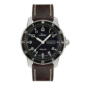 正規品 Sinn ジン 自動巻き メンズ腕時計 カウレザーストラップ 送料無料 104.ST.SA.A ラッピング無料 quelleheure-1