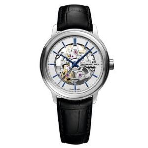 RAYMOND WEIL レイモンド・ウェイル マエストロ オープンハート 自動巻き メンズ腕時計 クロコ型押しカーフ 2215-STC-65001  |quelleheure-1