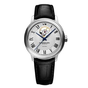 RAYMOND WEIL レイモンド・ウェイル マエストロ オープンハート 自動巻き メンズ腕時計 クロコ型押しカーフ 2227-STC-00659  |quelleheure-1