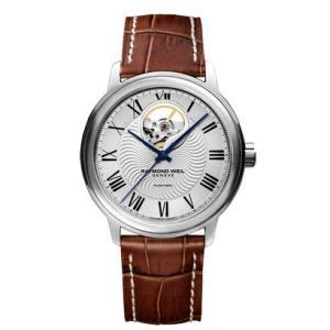 RAYMOND WEIL レイモンド・ウェイル マエストロ オープンハート 自動巻き メンズ腕時計 クロコ型押しカーフ 2227-STC-00659-DB  |quelleheure-1